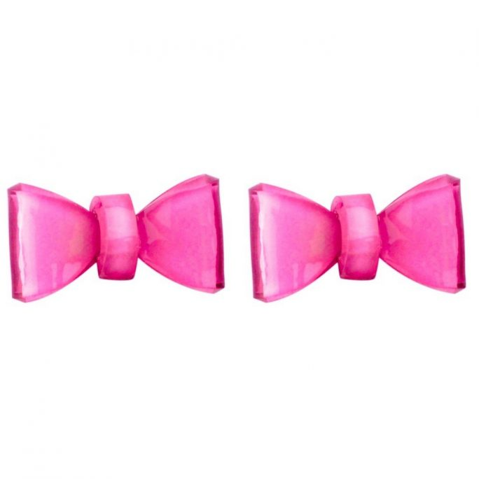 Stud Earring Bow Made With Acrylic by JOE COOL