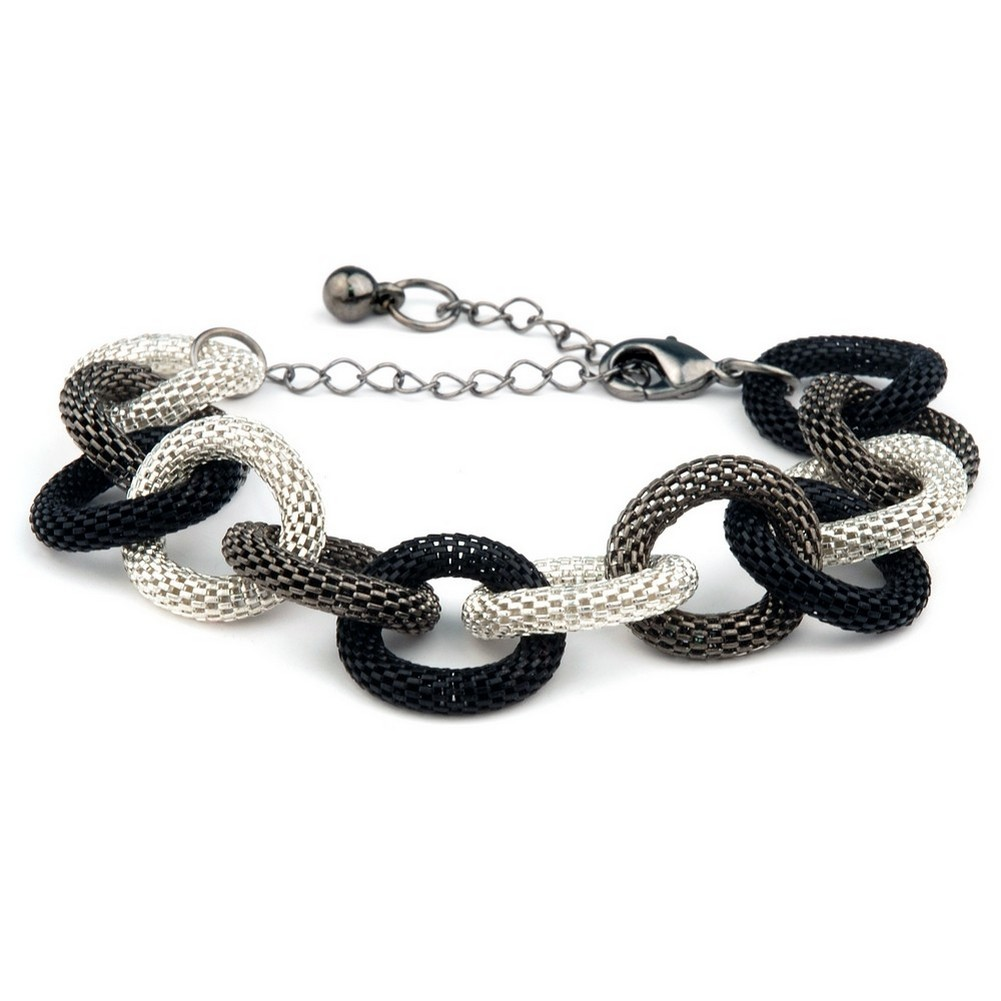 Bracelet Looped Milanese Chain Made With Tin Alloy by JOE COOL