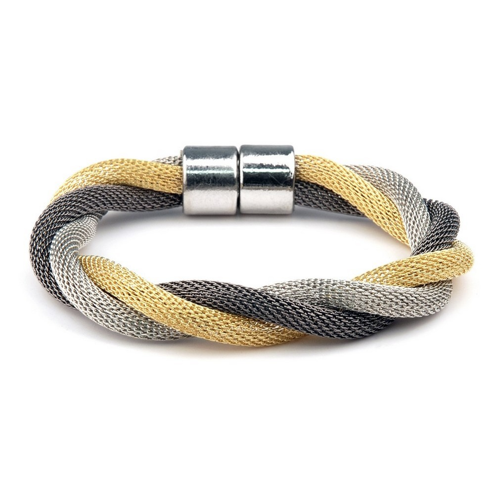Bracelet Twisted Milanese Chain Made With Tin Alloy by JOE COOL