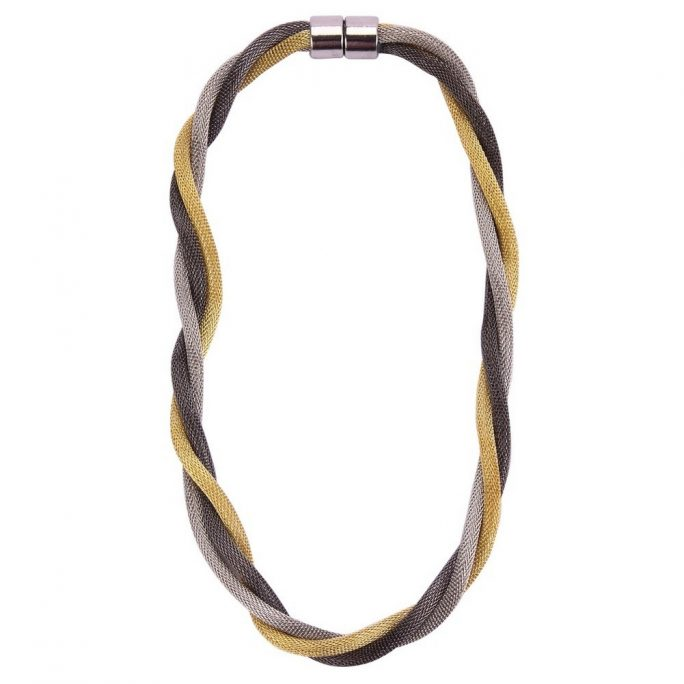 Necklace Chain Twisted Milanese Chain Made With Tin Alloy by JOE COOL