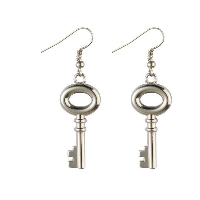 Drop Earring Mortice Key Made With Tin Alloy by JOE COOL