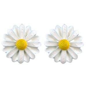 Stud Earring Daisy Made With Tin Alloy by JOE COOL