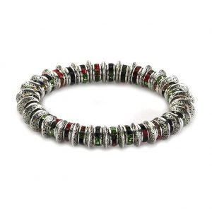 Bracelet Rainbow Wheels Made With Crystal Glass & Tin Alloy by JOE COOL
