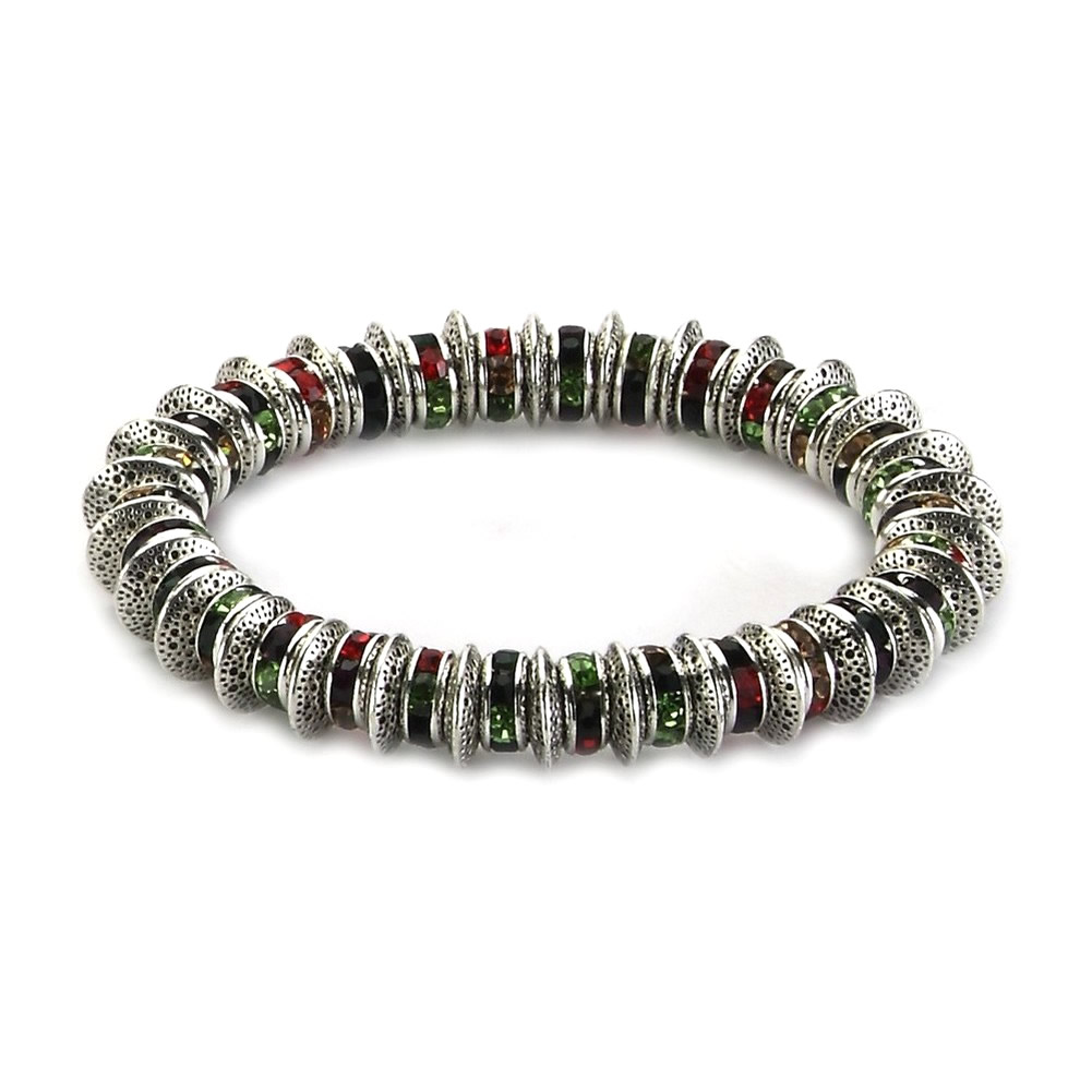 Bracelet Rainbow Wheels Made With Crystal Glass & Tin Alloy by JOE COOL