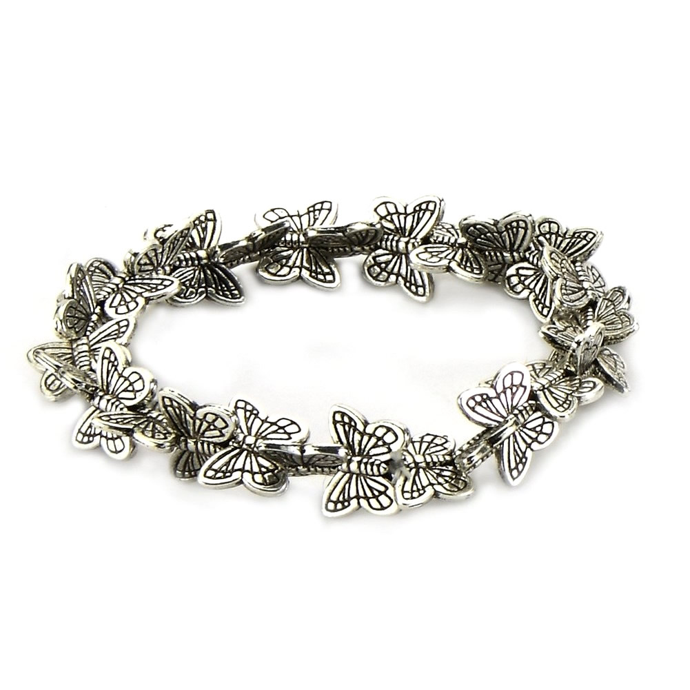 Bracelet Butterflies All Around Made With Tin Alloy by JOE COOL