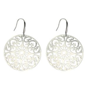 Drop Earring Etched Lattice Made With Surgical Steel by JOE COOL