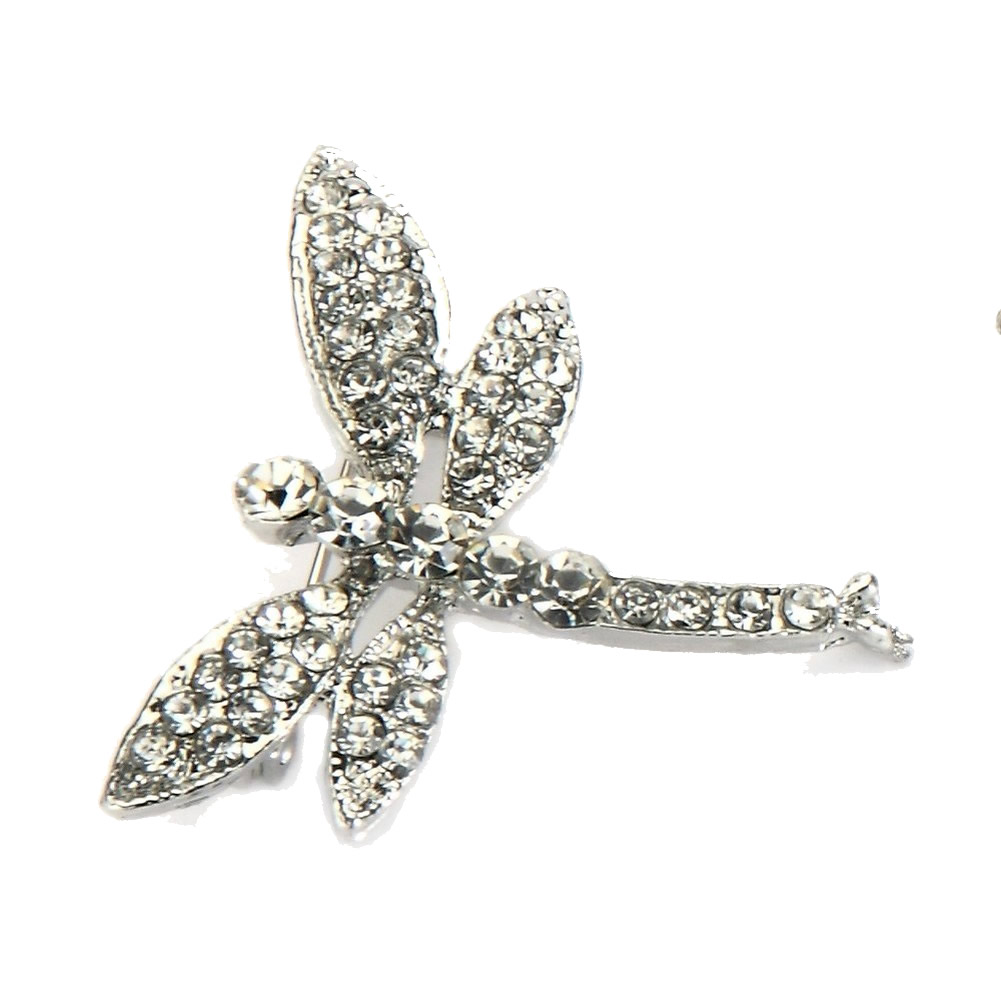 Brooch Dragonfly Made With Crystal Glass & Tin Alloy by JOE COOL