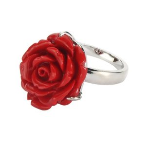 Ring Rose Made With Resin by JOE COOL