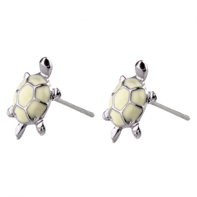 Stud Earring Turtle Made With Enamel by JOE COOL