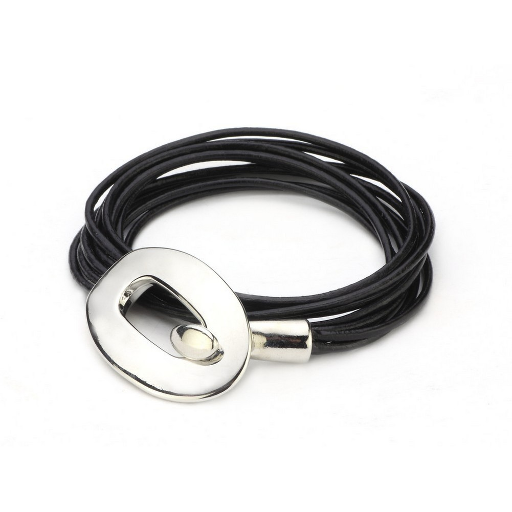 Bracelet With Hook Catch Made With Leather & Zinc Alloy by JOE COOL