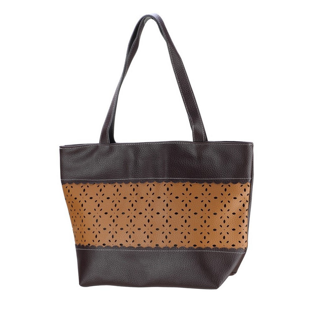 Shopper Bag Punched 43x30x13cm Made With Pu by JOE COOL
