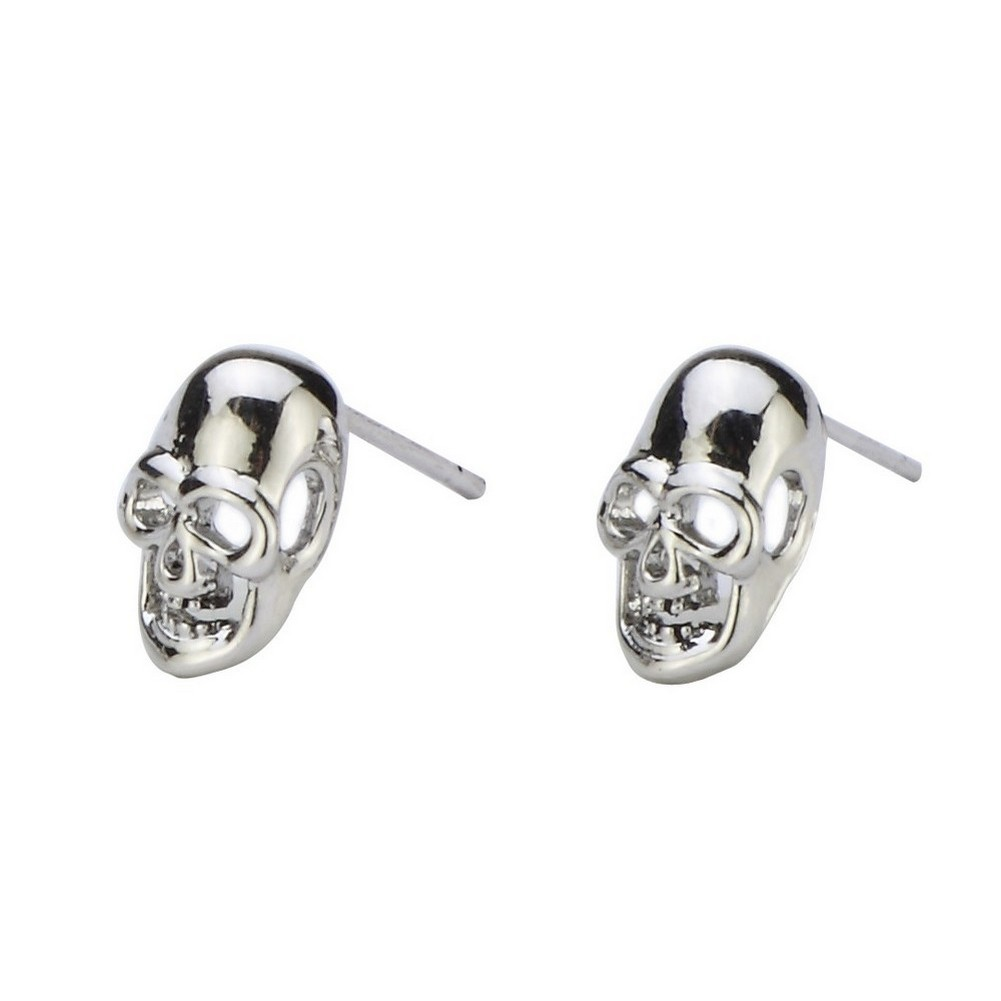 Stud Earring Skull Made With Tin Alloy by JOE COOL