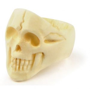 Ring Looking Skull Hand Carved Made With Bone by JOE COOL