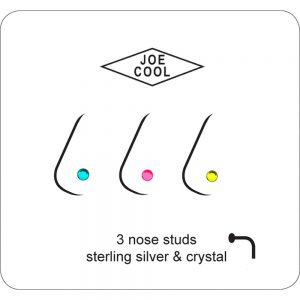 Nose Stud Tiny Acrylic Ball Made With 925 Silver & Ultra Violet Sensitive by JOE COOL
