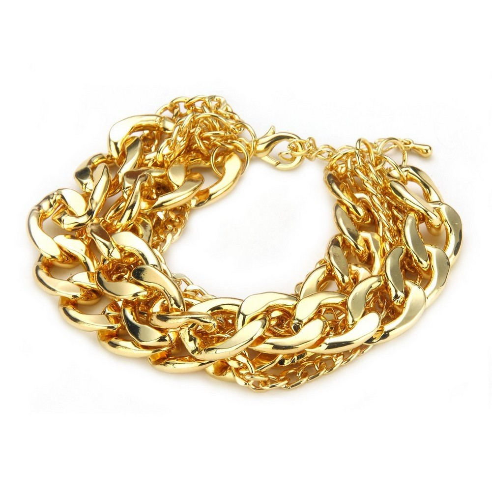 Bracelet 6 Strand Curb Chain 23 + 5cm Made With Iron by JOE COOL
