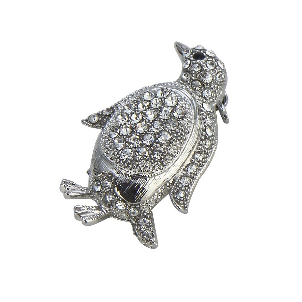 Brooch Penguin Made With Crystal Glass & Tin Alloy by JOE COOL
