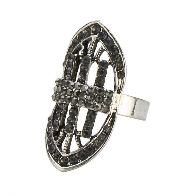 Ring Marcasite 32mm Made With Crystal Glass & Tin Alloy by JOE COOL