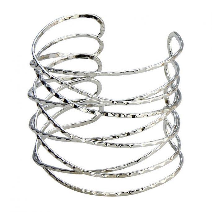Bangle Multi-strand Beaten Wire Cuff Made With Iron by JOE COOL