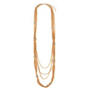 Necklace Chain Multi-strand With Bead Stations Made With Iron by JOE COOL