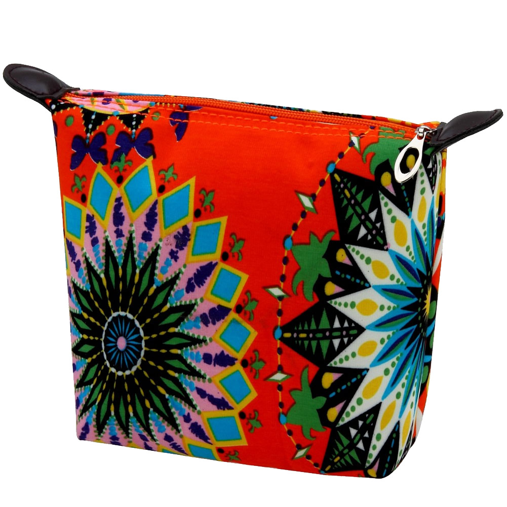 Cosmetic Bag Spiro Pattern Made With Nylon by JOE COOL