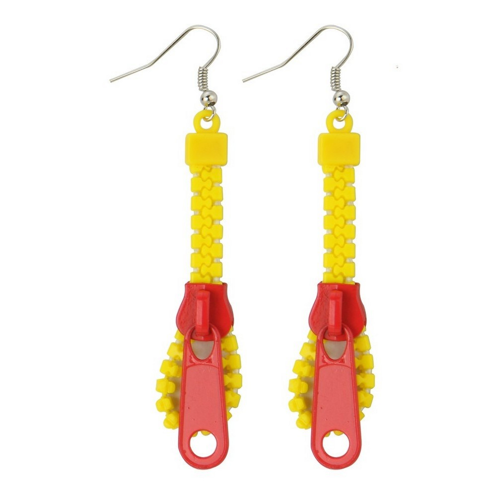 Drop Earring Zips Made With Acrylic & Iron by JOE COOL