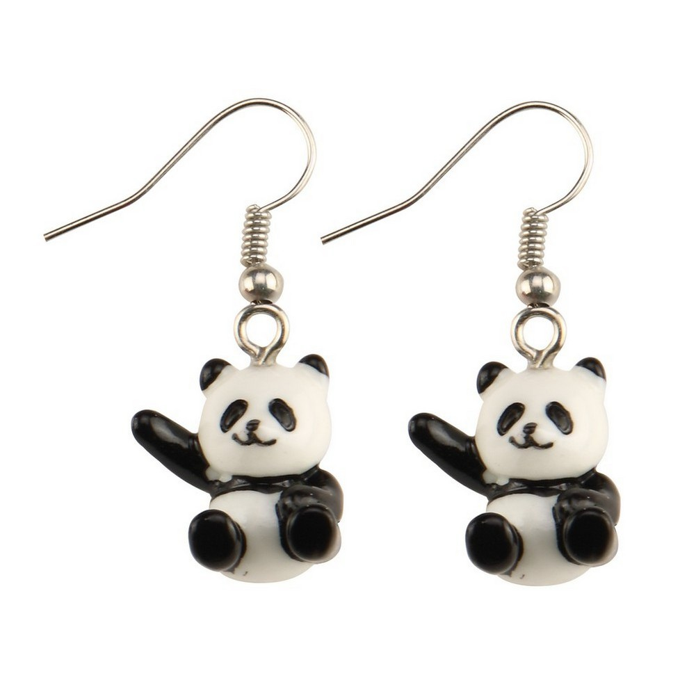 Drop Earring Hello Panda Made With Acrylic & Iron by JOE COOL