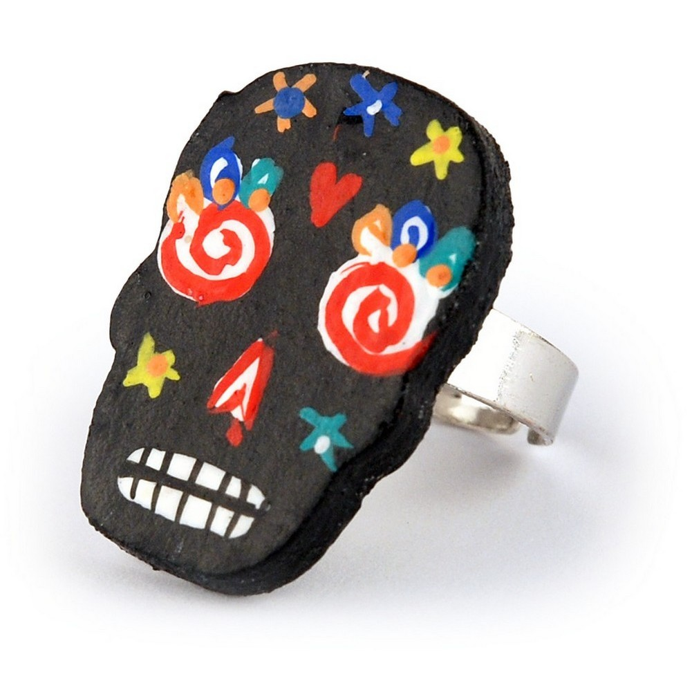 Ring Day Of The Dead Made With Wood by JOE COOL
