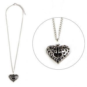 Necklace With A Pendant Fretwork Heart Made With Tin Alloy & Iron by JOE COOL