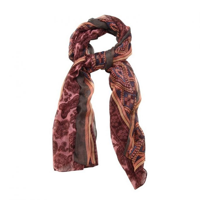 Scarf Bordered Paisley Made With Viscose by JOE COOL
