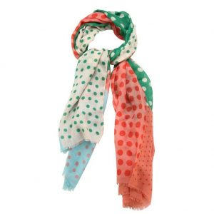Scarf Gypsy Polka Dots 94 X 184cm Made With Polyester by JOE COOL