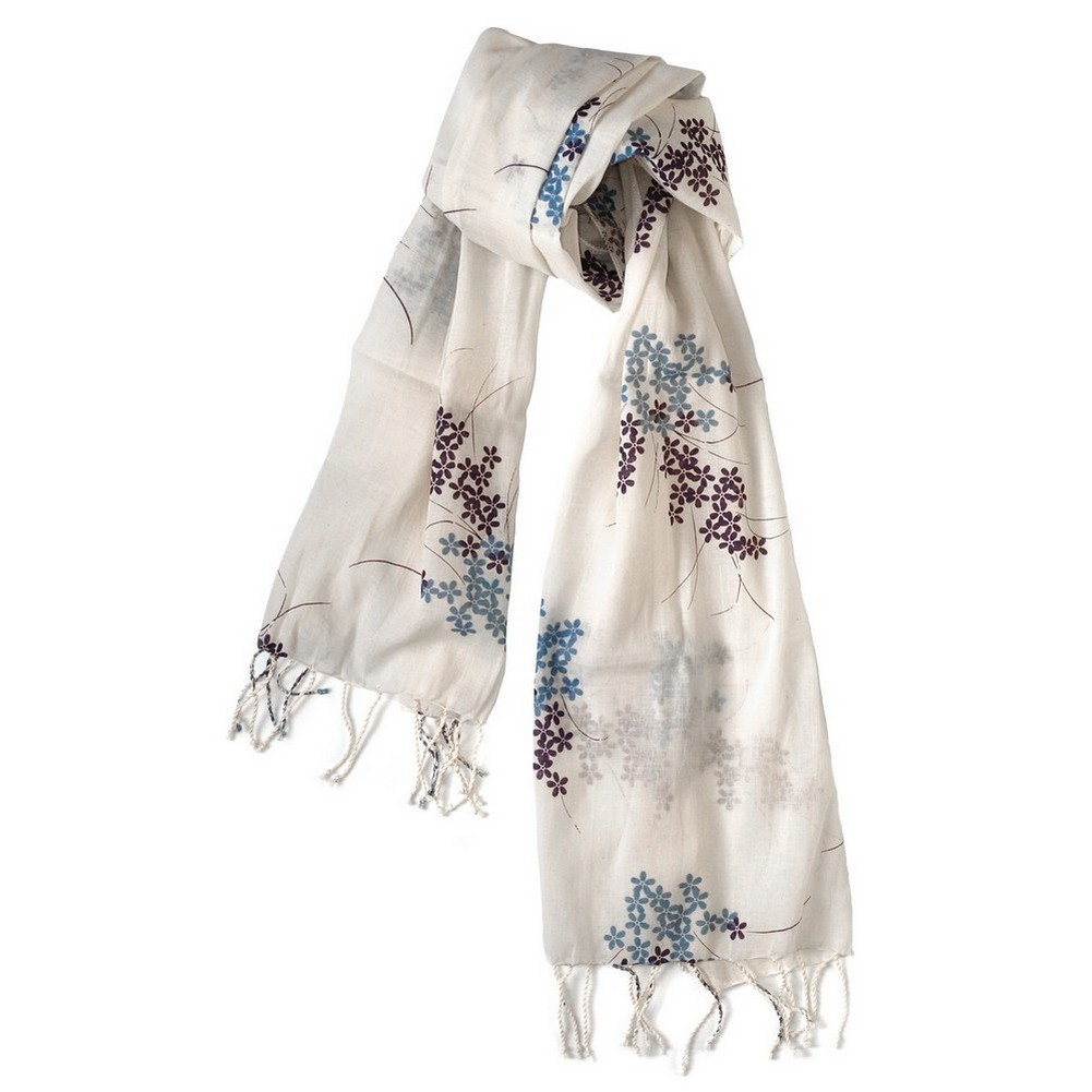 Scarf Dainty Flowers Made With Cotton by JOE COOL