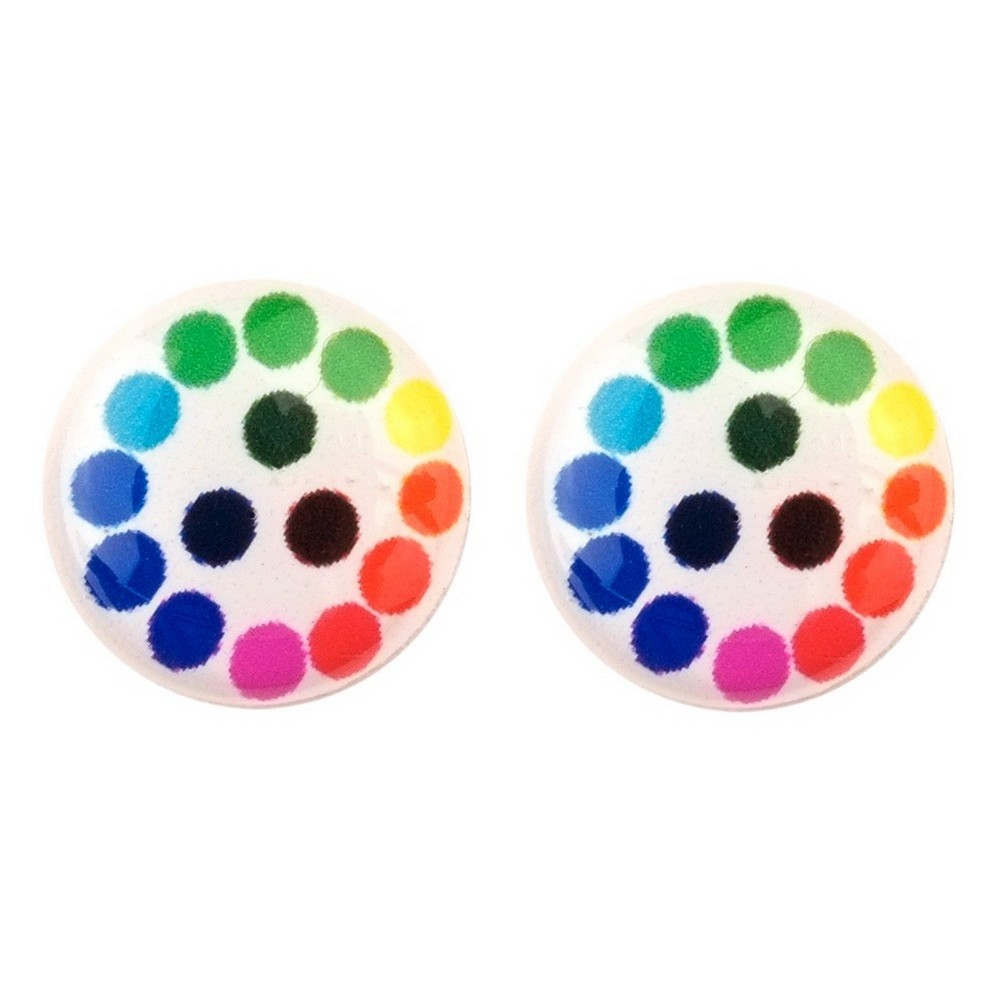 Stud Earring Pop Art Spot Made With Resin by JOE COOL