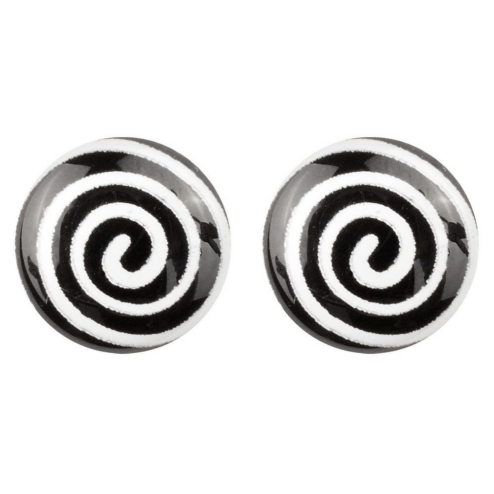 Stud Earring Pop Art Swirl Made With Resin by JOE COOL