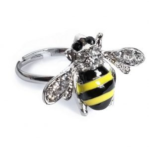 Ring Bee Made With Crystal Glass & Tin Alloy by JOE COOL