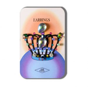 Story Card Of Earrings Crowned Princess (designs & Colours May Vary) Made With Crystal Glass by JOE COOL
