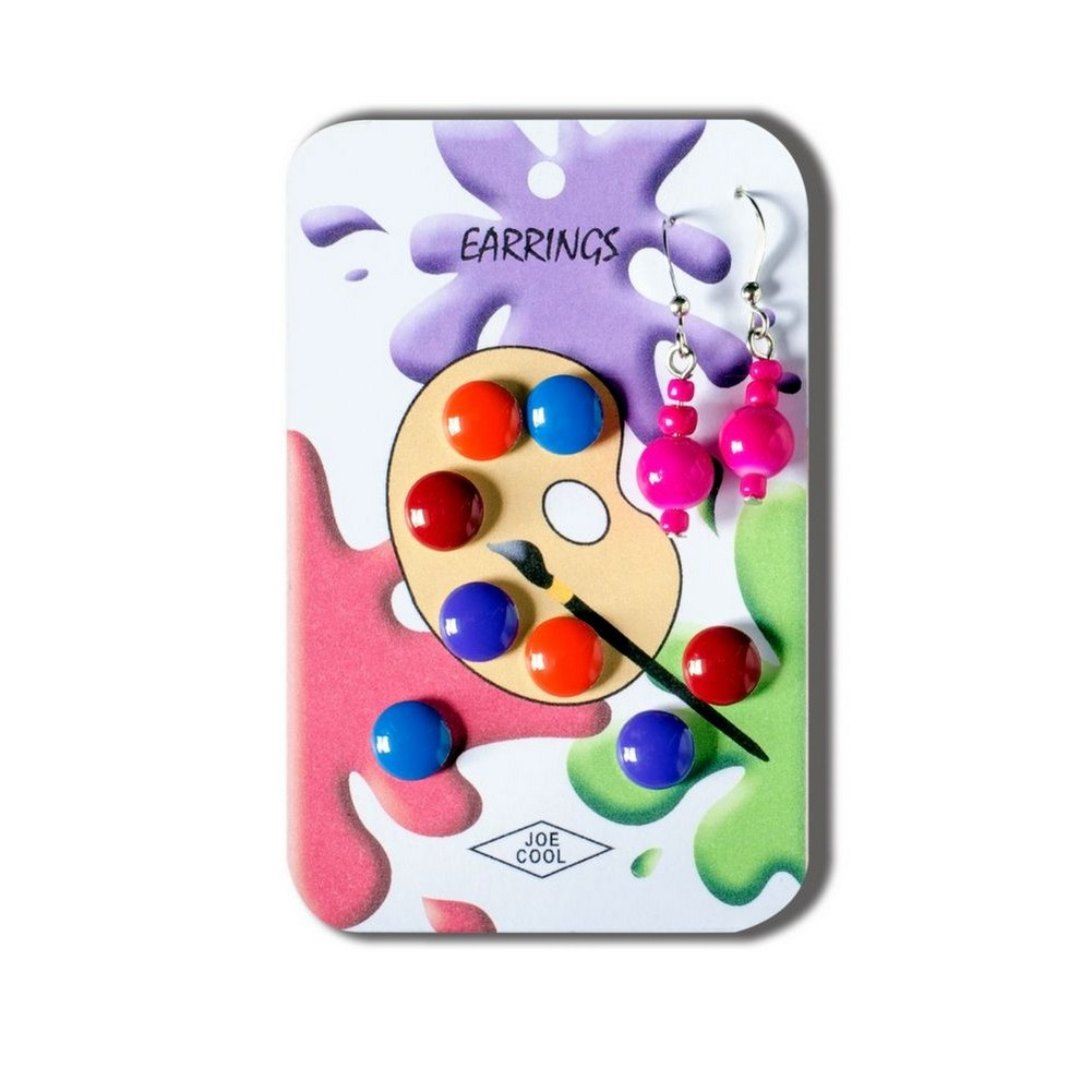 Story Card Of Earrings Paint Palette (colours May Vary) Made With Resin by JOE COOL