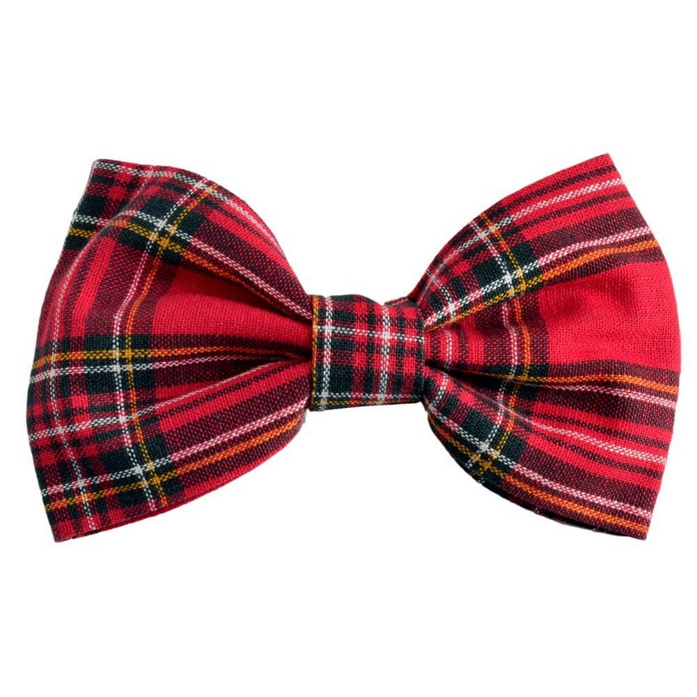 Barrette Traditional Tartan Bow Made With Cotton by JOE COOL