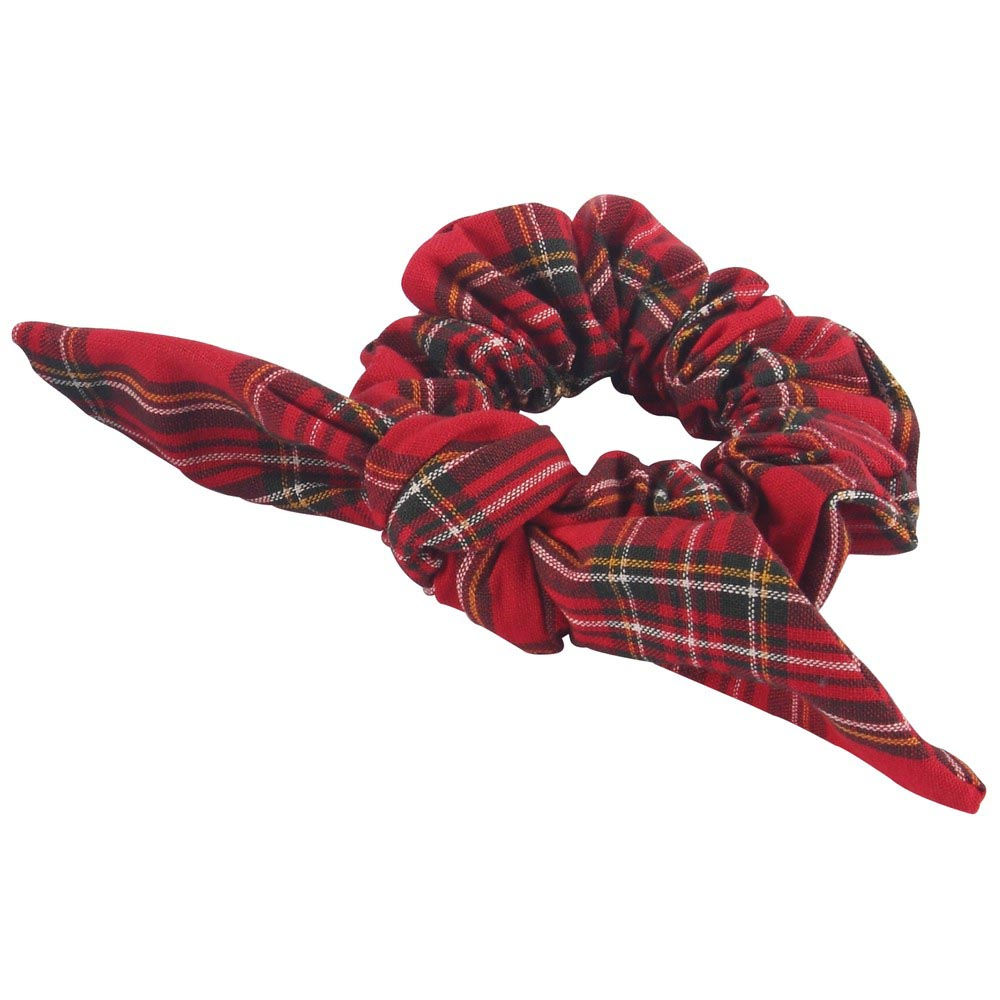 Scrunchie Traditional Tartan With Bow Made With Cotton by JOE COOL