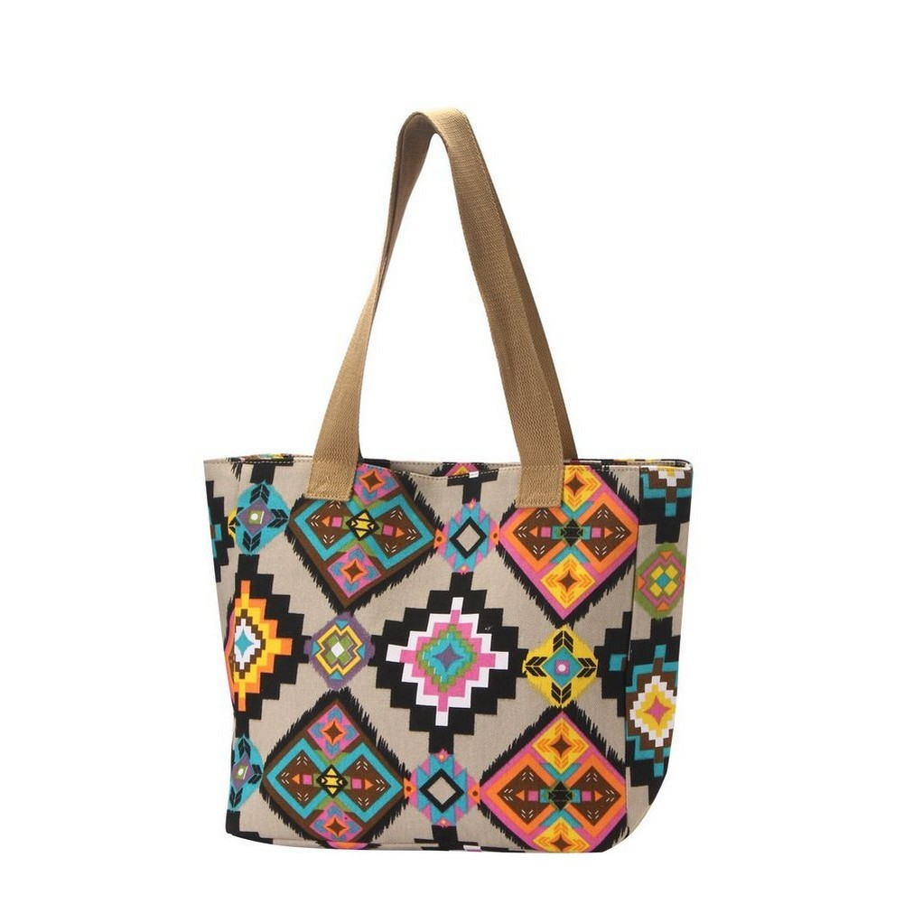 Shopper Bag Neon Aztec Made With Polyester by JOE COOL