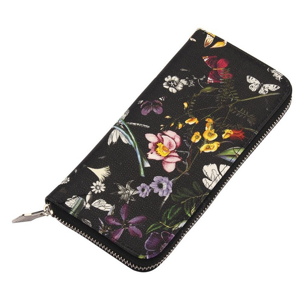 Zip Wallet Meadow Flower Made With Pu by JOE COOL