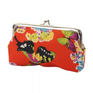 Cosmetic Bag Clip Top Butterfly Made With Pu & Iron by JOE COOL