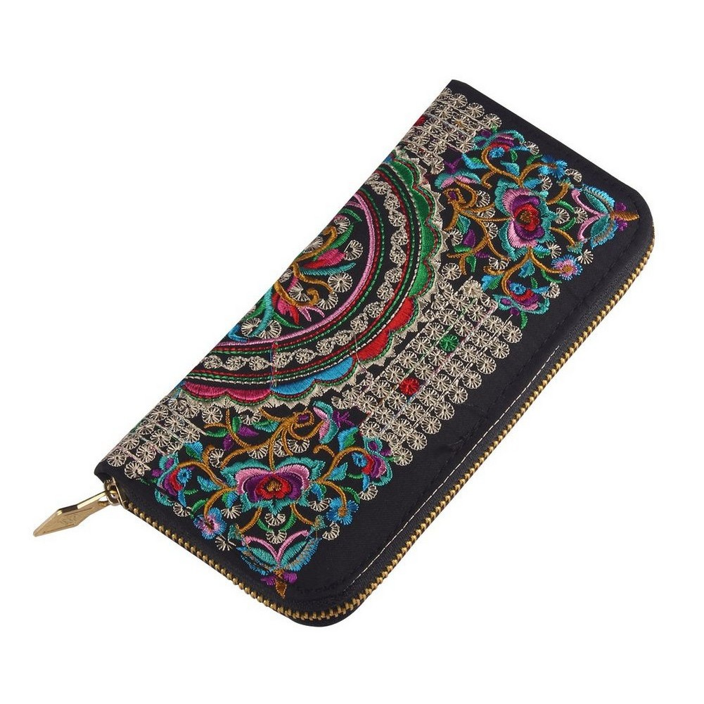 Zip Wallet Rich Exotic Embroidered Made With Polyester by JOE COOL