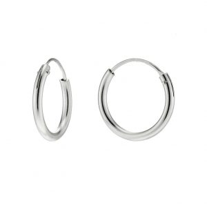 Hoop Earring Hinged 1.5x10mm Made With 925 Silver by JOE COOL