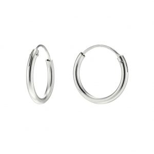 Hoop Earring Hinged 1.5x14 Mm Made With 925 Silver by JOE COOL