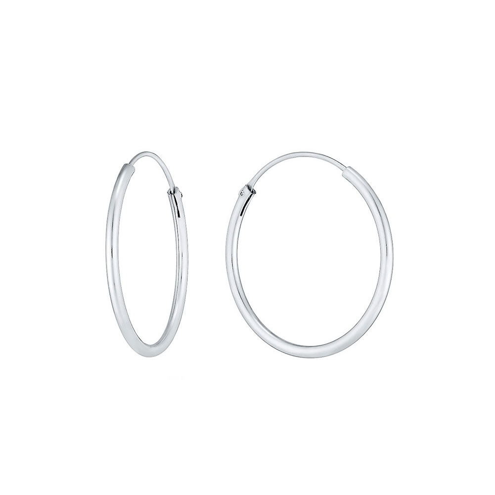 Hoop Earring Hinged 1.5x18mm Made With 925 Silver by JOE COOL