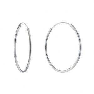 Hoop Earring Hinged 2x60mm Made With 925 Silver by JOE COOL