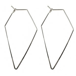 Hoop Earring Geo Wire Form Made With Tin Alloy by JOE COOL