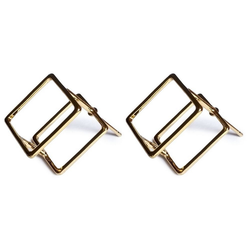 Stud Earring Geo Cube Made With Tin Alloy by JOE COOL