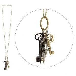 Necklace With A Pendant Keys To The Kingdom Made With Tin Alloy by JOE COOL