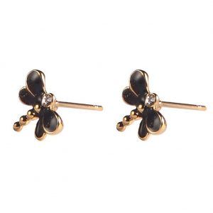Stud Earring Dragonfly Made With Enamel & Tin Alloy by JOE COOL